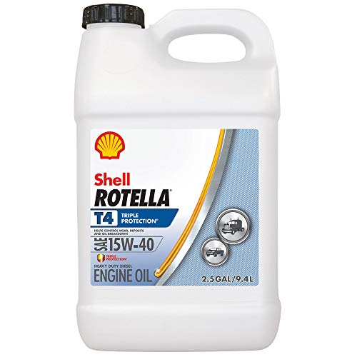 15w40 Motor Oil - Shell Rotella T4 Triple Protection 15W-40 Diesel Motor Oil (2.5-Gallon, Single-Pack)