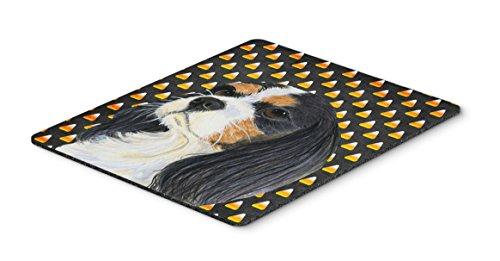 Caroline's Treasures Cavalier Spaniel Tricolor Candy Corn Halloween Mouse Pad/Hot Pad/Trivet (LH9065MP)