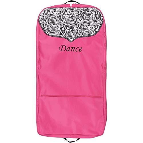 (Sassi Designs Girls Pink Zebra Polka Dot Grosgrain Trim Dance Garment Bag)