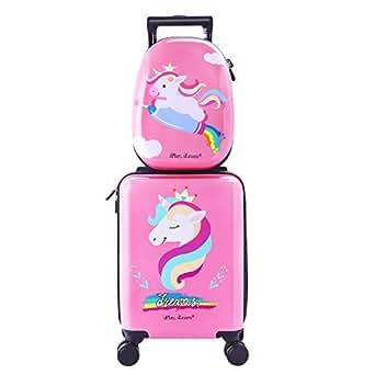 Amazon.com | Unicorn Kids Carry On Luggage Set with