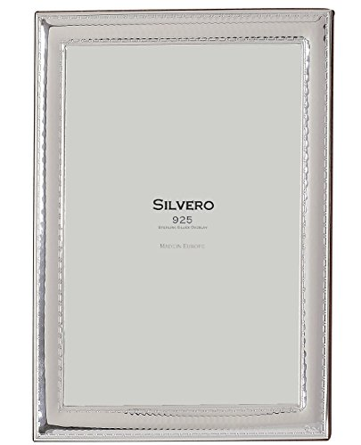 (SILVERO 416W79 .925 Sterling Silver Hammered Scroll 8x10 Frame )