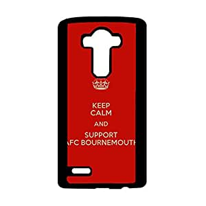 Fashion Style Premier League Football Team Phone Case for LG G4 A.F.C. Bournemouth Logo Simple Design Durable Phone Case