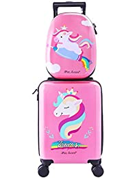 Unicorn Kids Carry On Rolling Luggage Hard Shell Travel Upright Suitcase Girls