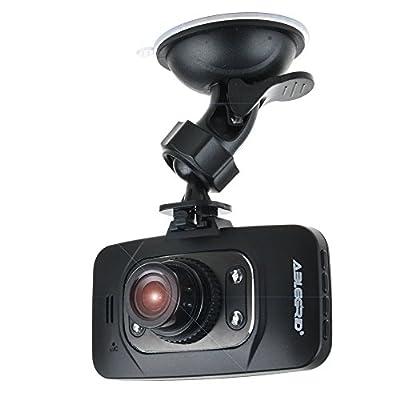 "ABLEGRID GS8000L Night Vision HD 1080P 2.7"" 120 Degree +Novatek 96220 Chipset Car DVR G-sensor HDMI Vehicle Camera Video Recorder Dash Cam Motion Detection Support 32GB Black"