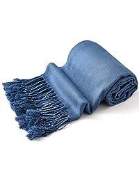 Denim Blue Solid Color Shawl Pashmina Scarf Wrap Shawls Pashminas NEW