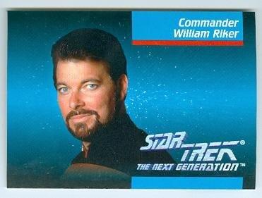 (William Riker trading card Jonathan Frakes Star Trek The Next Generation 1992 Impel #005)