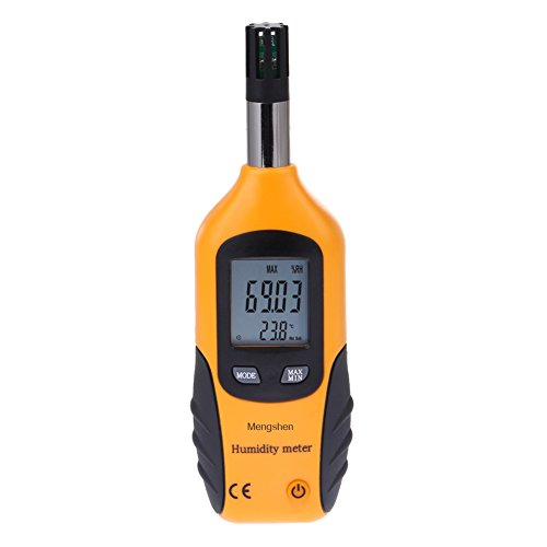 Price comparison product image Mengshen Digital Temperature and Humidity Meter - with Dew Point and Wet Bulb Temperature - Battery Included,  M86