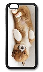 MOKSHOP Adorable cute puppy sleep Soft Case Protective Shell Cell Phone Cover For Apple Iphone 6 (4.7 Inch) - TPU Black