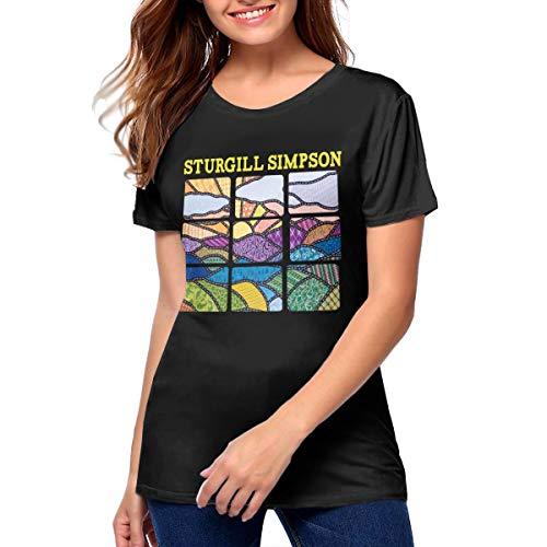 Women Sturgill Simpson High Top Mountain Hip Pop Cotton Tops XL ()