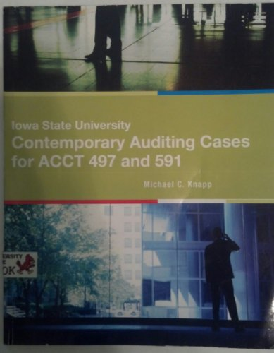 Iowa State University: Contemporary Auditing Cases for ACCT 497 and 591