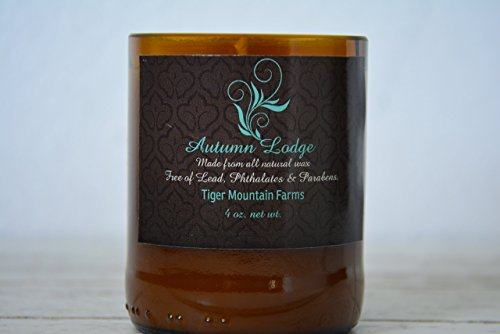 Autumn Lodge Scented Soy Wax Candle Hand Poured into an Up-Cycled Beer...