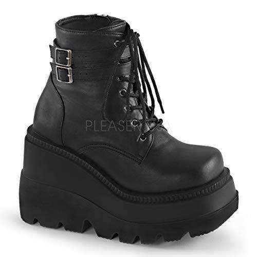 Demonia Women's Sha52/Bvl Boot, Black Vegan Leather, 8 M US