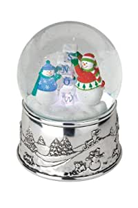 Reed and Barton Snow Cubes Musical Snow Globe