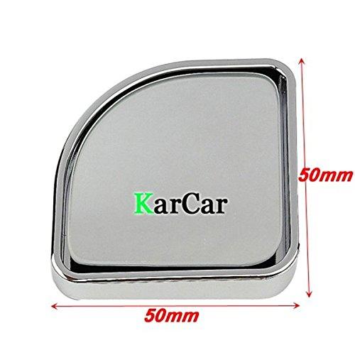 PIXNOR Car Adjustable Push Rearview Convex Mirror Blind Spot Mirror