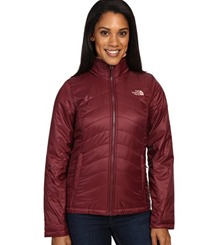 The North Face Women's Mossbud Swirl Reversible Jacket Deep Garnet Red (M)