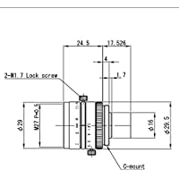 VS Technology SV-2514V 1 25mm F1.4 Manual Iris C-Mount Lens, Megapixel Rated