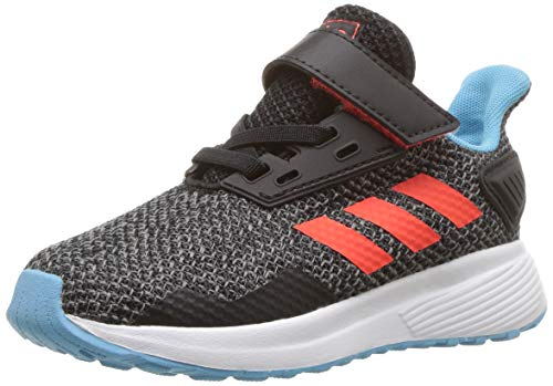 adidas Performance Baby Duramo 9 Running Shoe, Black/Solar Red/Grey, 7.5K M US Toddler