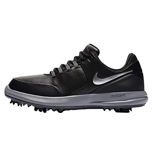 Nike Men's Golf Air Zoom Accurate Shoes, Black/Metallic Silver-Cool Grey, 13 M US