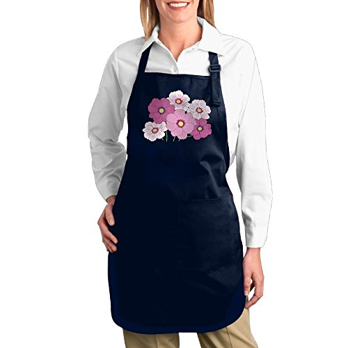 Custom Made Dance Costumes New York (Dogquxio Beautiful Flowers Kitchen Helper Professional Bib Apron With 2 Pockets For Women Men Adults Navy)
