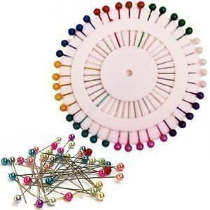 80 PIECES PEARLIZED BEAD PINS SEWING SCARF NEEDLEWORK HIJAB CRAFT DRESS MAKER