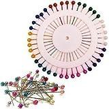 Fashion Jewellery - Ensemble de 80 Épingles de Couture à Bout Rond/Perles