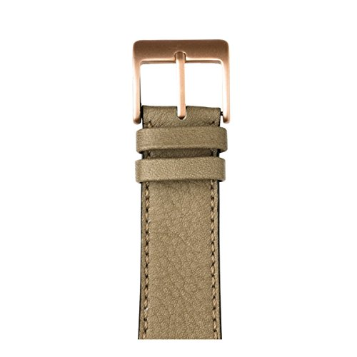 Roobaya | Premium Sauvage Leather Apple Watch Band in Light Gray | Includes Adapters matching the Color of the Apple Watch, Case Color:Rose Gold Aluminum, Size:38 mm by Roobaya