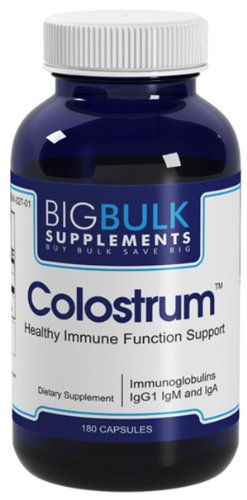 Le colostrum optimal en vrac immunitaire du système de santé Big suplements 900mg 300mg rendement Immunoglobulines 180 Capsules 1 Bouteille