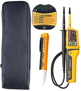 LED Tests Single Pole Phase Continuity /& Voltage AND Martindale PD690 700 Volt AC P Martindale VT28 Two Pole Phase Rotation Martindale VT28//PD Testing Kit 12 To 690 Volt AC//DC Voltage /& Continuity Tester//Indicator With Built-in Torch//Flashlight LCD