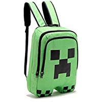 Minecraft Creeper pattern school bag Large capacity doube-shoulder bag Students backpack