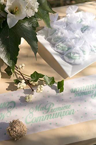 x1 REF//6418 Santex Chemin de Table Communion Mint 15cm x 5m