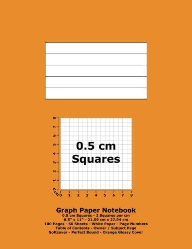 graph paper notebook 0 5 cm squares 8 5 x 11 21 59 cm x 27 94