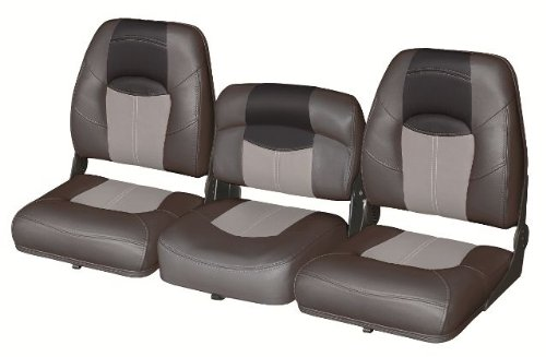 (Blast-Off Tour Series Wise 51'' 3 Piece Bass Boat Bucket Seat Set (Charcoal/Grey/ Black))