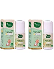 Mother Sparsh Tummy Roll On for Baby, Colic Relief and Digestion, 100% Ayurvedic, Hing & Saunf, 40ml (Pack OF 2)