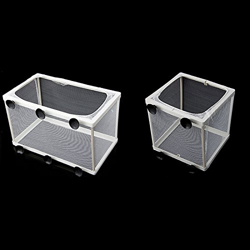 Hikig Aquarium Fish Tank Guppy Breeding Breeder Baby/Fry Net Trap Box Hatchery