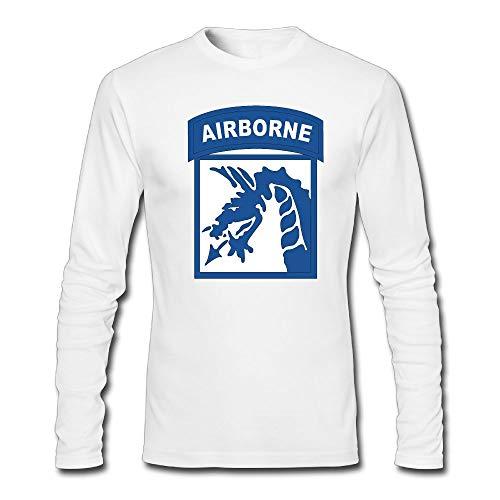 TransaJuedi 18th Airborne Corps Men's Long Sleeve T-Shirt Retro Cotton Long Sleeve T-Shirt ()