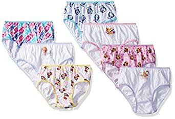 Nickelodeon Paw Patrol 7 Cotton Undies Panties Little Girls Size 6