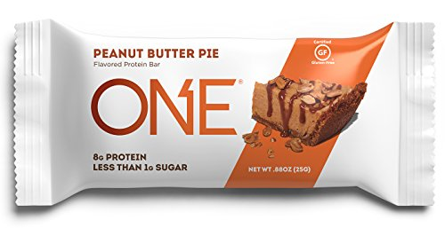 ONE Protein Bar Mini, Peanut Butter Pie, 8g Protein, Less than 1g Sugar, 30 Count