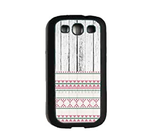 CellPowerCasesTM White Wood Pink Aztec Samsung Galaxy S3/S III Case - Fits Samsung S3 and Galaxy S III i9300