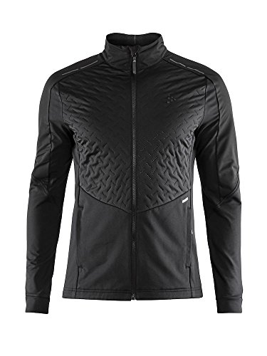 - Craft Sportswear Mens Fusion Nordic Cross Country Ski Quilted Windproof Lightweight Jacket, Black, XX-Large