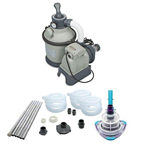 Intex 1200 GPH Krystal Clear Sand Pool Filter Pump Set & Kokido V-Trap Vacuum by INTEX