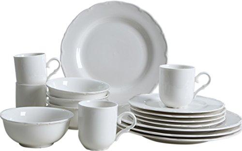 "SOLECASA ""16-Piece/Service for 4"" Porcelain/Ceramic Dinnerwa"