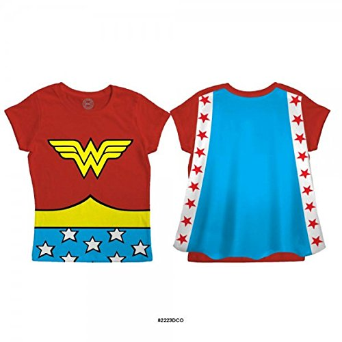 Dc Comics Girls' Wonder Woman Toddler's Cape T-Shirt