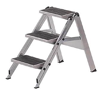 Neolab 6620 - Escalera de seguridad (2 piezas, 3 peldaños, aluminio, 0,69 m): Amazon.es: Industria, empresas y ciencia