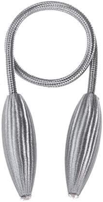 Vosarea 2 st gordijn Tiebacks decoratieve knop vormige metalen eenvoudige Drapery Holdbacks houder ruggen touw stropdas gordijn gesp grijs