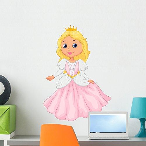 Wallmonkeys Cute Princess Cartoon Wall Decal Peel and Stick Graphic WM126342 (24 in H x 17 in W)]()
