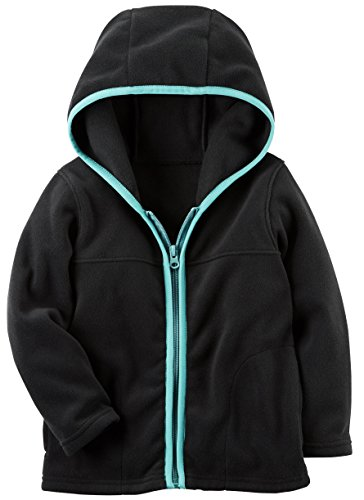 Toddler Full Zip Hoodie (Carter's Boys' Black Fleece Full Zip Hoodie (5t))