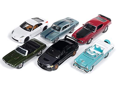 Johnny Lightning Classic Gold 2018 Release 4, Set A of 6 Cars 1/64 Diecast Models JLCG016 A - Johnny Lightning Classic Car