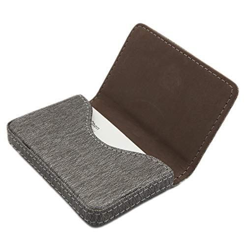 RFID Blocking Wallet - Minimalist Leather Business Credit Card Holder with Magnetic - Gray2 (Ultra Thin Card Holder)