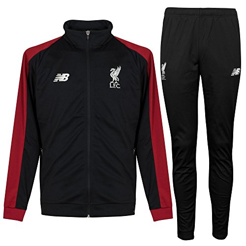 Training Presentation Suit - Liverpool New Balance Black Presentation Suit 2018/19 (Adults)-Large