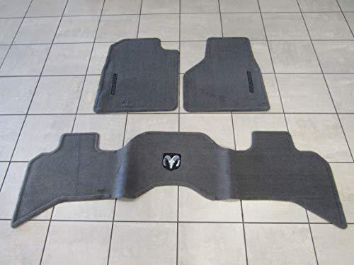 Taupe Rear Mat - Mopar Dodge RAM 1500 2500 Front & Rear Premium Taupe Carpet Floor Mats New OEM